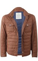 Brunello Cucinelli Quilted Nylon Shirt Jacket - Lyst