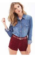 Forever 21 Classic Chambray Shirt - Lyst