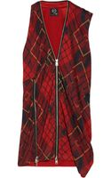 McQ by Alexander McQueen Zip-embellished Plaid Jersey Top - Lyst