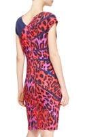 Escada Radiantseam Leopard Dress Garnet Red - Lyst