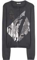 Bottega Veneta Metallicprint Cardigan - Lyst