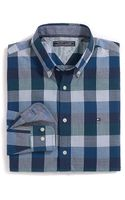 Tommy Hilfiger Slim Fit Heathered Check Shirt - Lyst