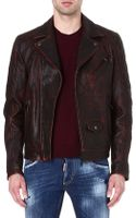 DSquared2 Quilted Leather Biker Jacket - Lyst
