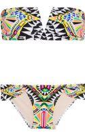 Mara Hoffman Printed Bandeau Bikini - Lyst