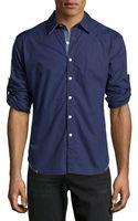 Robert Graham Longsleeve Solid Poplin Shirt Navy Xl - Lyst