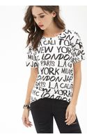 Forever 21 Cities Graphic Tee - Lyst