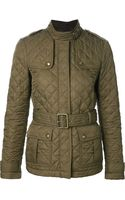 Burberry Brit Quilted Belted Jacket - Lyst