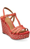 Clarks Amelia Avery Leather Platform Sandals - Lyst