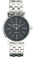 Ben Sherman Black Dial Stainless Steel Strap Watch Bs087 - Lyst