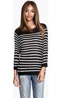 H&M Striped Jumper - Lyst