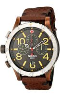 Nixon The 48-20 Chrono Leather - The Brass Tacks Collection - Lyst