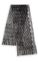 Missoni Zigzag Knit Fringe Scarf - Lyst