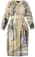 Burberry Prorsum Abstract Floral-print Smock Dress - Lyst