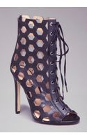 Bebe Ashli Laceup Cage Booties - Lyst