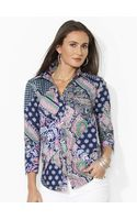 Lauren by Ralph Lauren Patchwork Paisley Cotton Shirt - Lyst