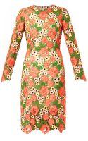 Dolce & Gabbana Floral Macramé Lace Dress - Lyst