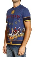 Versace T-shirt Short Sleeve Crewneck Western Print - Lyst
