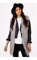 Missguided Derran Faux Fur Gilet - Lyst
