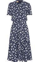 Michael Kors Floralprint Crepe Dress - Lyst