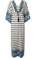 Emilio Pucci Striped Maxi Dress - Lyst