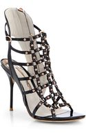 Sophia Webster Brandy Leather Cage Sandals - Lyst