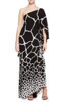 Roberto Cavalli Giraffe-print One-shoulder Gown - Lyst