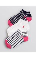 Ralph Lauren Blue Label Low Cut Ankle Socks Set Of 3 - Lyst