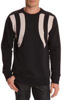 G-star Raw Marc Newson Mesh Strip Navy Blue Sweater - Lyst