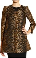 RED Valentino Coat Jaquard Animalier Heart - Lyst