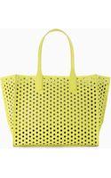 Zara Perforated Shopper Bag - Lyst