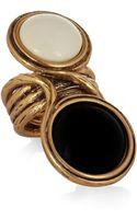 Oscar de la Renta Goldplated Cabochon Ring - Lyst