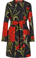 Dolce & Gabbana Printed Floral-brocade Coat - Lyst