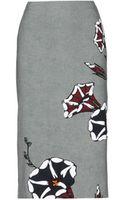 Marni Printed Crepe Pencil Skirt - Lyst