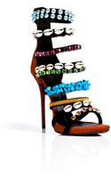 Giuseppe Zanotti Suede Jeweled High Heel Sandals - Lyst