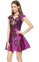 Temperley London Mini Berge Dress Violet Mix - Lyst
