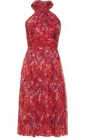 Giambattista Valli Printed Silkchiffon Halterneck Dress - Lyst