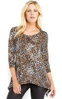 Spense Leopard Print Top - Lyst