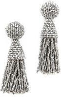 Oscar de la Renta Short Tassel Earrings Silver - Lyst