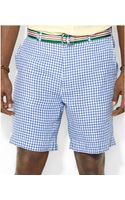 Polo Ralph Lauren Polo Big and Tall Gingham Checked Linen Shorts - Lyst