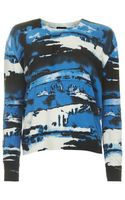 Topshop Digital Print Knitted Jumper - Lyst