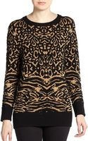 Torn By Ronny Kobo Animal Patterned Metallic Sweater - Lyst