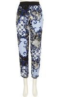 River Island Blue Paisley Print Trousers - Lyst