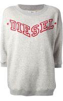 Diesel Printed Sweatshirt - Lyst