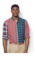 Polo Ralph Lauren Patchwork Plaid Bleecker Shirt - Lyst