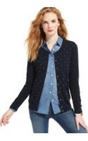 Tommy Hilfiger Long Sleeve Button Front Cardigan - Lyst