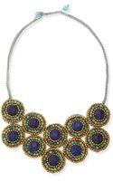 Panacea Tritone Beaded Layered Bib Necklace - Lyst
