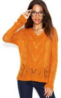 Maison Jules Open-stitch V-neck Sweater - Lyst