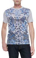 Versace Shortsleeve Graphicprint Tshirt - Lyst