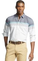 Sean John Long Sleeve Engineered Stripe Shirt - Lyst