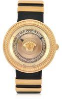 Versace Greek Golden Womens Watch Wpatent Leather Strap - Lyst
